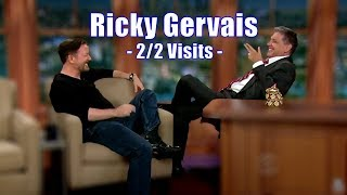 """Ricky Gervais - """"This Might Be The Best Chat show Ever!"""" - 2/2 Visits In Chron. Order [720p]"""