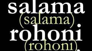 Ni salama rohoni mwangu 127