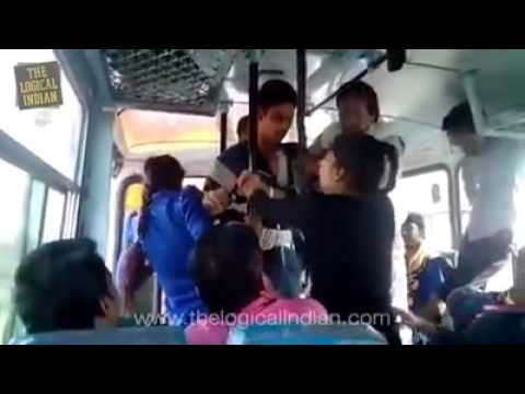 Bus rape on girl Indian other passangers attack