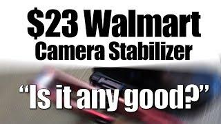 $23 Walmart Camera Stabilizer - Is it any good? UHD 4k