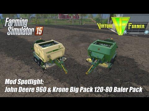 Xxx Mp4 Farming Simulator 15 Mod Spotlight John Deere 690 Krone Big Pack 120 80 Baler Pack 3gp Sex
