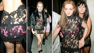 Britney Spears Flaunts Her Underwear In See-Through Lace Dress While Partying In Hollywood [2006]