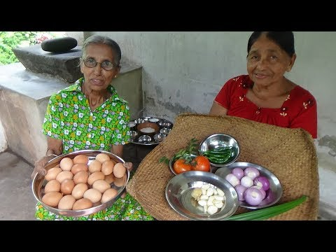 Xxx Mp4 Egg Masala Curry Prepared In My Village By Grandma And Mom Village Food 3gp Sex