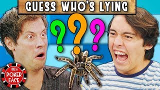 Guess The LIAR, Get A Real SPIDER | Poker Face (REACT)