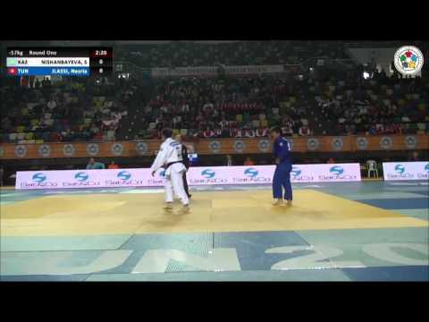 Sevara NISHANBAYEVA (KAZ) Vs Nesria JLASSI (TUN) - Judo Grand Prix Samsun 2014 [-57kg]