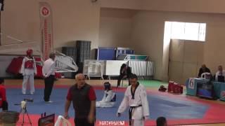 46kg Zehra Tanışma vs Nisa Nur Aracı (2017 Turkish TKD Championships -21)