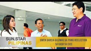 Gwen Garcia giluwas sa iyang reelection sa kaso sa CICC