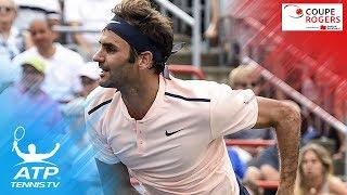 Shapovalov upsets Nadal; Federer, Zverev through   Coupe Rogers Montreal 2017 Highlights Day 4