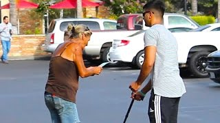 Rich VS Poor Blind Man Honesty Social Experiment
