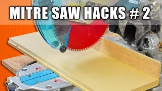 Sliding Miter Saw Hacks Part 2 - Woodworking Tips and Tricks