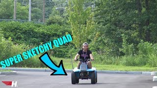 CHOW'S FIRST TIME ON AN ATV !!!