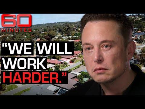 Elon Musk says Australia's energy emergency is easily fixable Part one 60 Minutes Australia