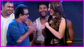 Brahmanandam Dance Performance With Hansika || Notanki Notanki Song || At Power Audio  Launch