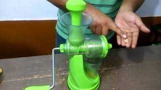 Handy juicer demo in hindi