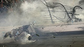 NASCAR 2015 Coke Zero 400 @ Daytona Finish - Austin Dillon Huge Crash [Live]