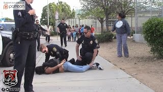 Copwatch | Juvenile Girl Forceful Arrest | Parent & Crowd Upset w/ Police Actions