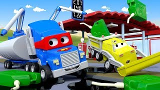 The Tanker save the day again !  - Carl the Super Truck in Car City | Children Cartoons