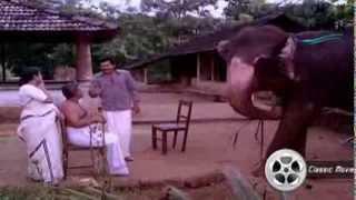 Owner Training His Elephant   Gajakesariyogam   Malayalam Movie scene