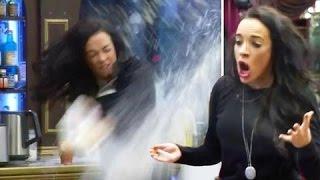 Stephanie Davis Throws Milk Across The Kitchen   Celebrity Big Brother