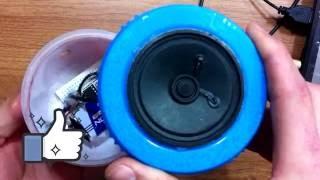كيف تصنع مكبر صوت بنفسك ج2... How to make a portable speaker2