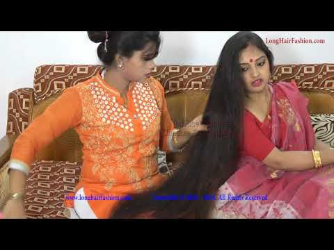 Xxx Mp4 Two Indian Rapunzel With Amazing Long Hair YouTube Long Hair Beauty 3gp Sex