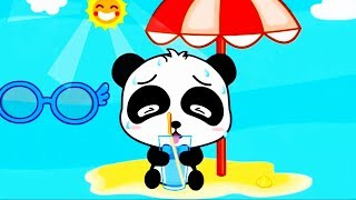 Learn Baby Habits In Daily Life - Play Bath time with Baby Panda - Educational Children Games