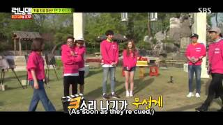Running Man 297 - Jin Goo and Kim Ji Won clip