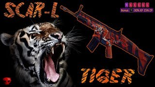 Zula - SCAR-L with TIGER SKIN and some kills
