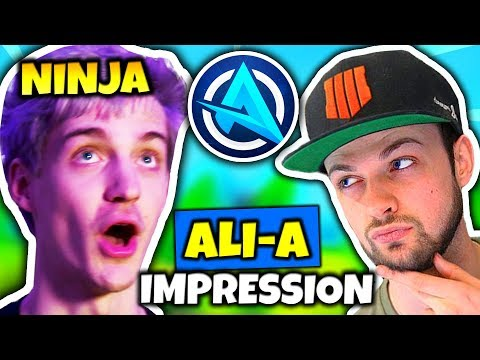 NINJA DOES ALI A IMPRESSION Fortnite Daily Funny Moments Ep.78