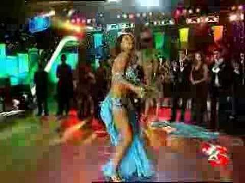 Hot turkish belly dancer in blue nouran Sultan