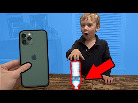 Land the Bottle Flip Win an iPhone 11 Colin Amazing