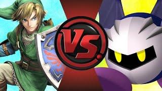 LINK vs META KNIGHT! (Legend of Zelda vs Kirby) Cartoon Fight Club Episode 86