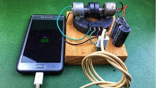 DIY Free Energy 100% Experiments - Make Self Running Machine Mobile Phone Charger Using DC Motor