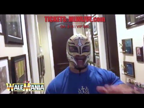 Rey Mysterio talks WaleMania 3•26 Santa Clara