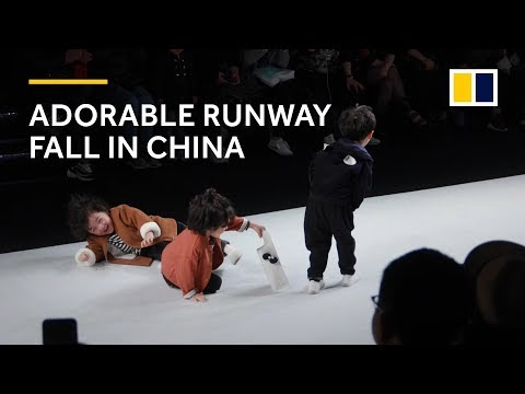 Xxx Mp4 Adorable Runway Fall At Kids Fashion Show In China Warms Hearts 3gp Sex
