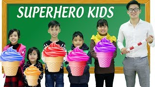 Kids Go To School Learn Colors with Ice Cream Johny Johny Yes Papa Nursery Rhymes