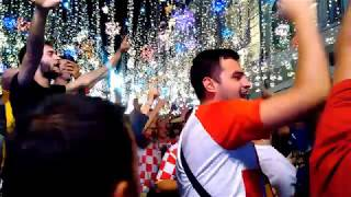 World cup. Croatia fans in Moscow. July 13-14, 2018