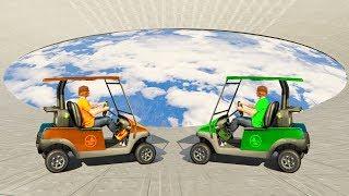 GOLF CART SKY DERBY! (GTA 5 Funny Moments)