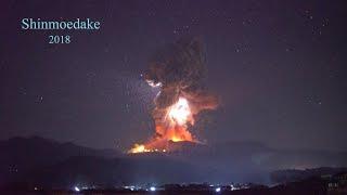 爆発音・火山雷を伴う新燃岳の噴火