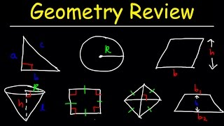 Geometry Introduction, Basic Overview - Review For SAT, ACT, EOC, math lessons, Midterm / Final Exam