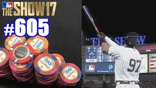 I WENT DEEP IN A BIG POKER TOURNAMENT! | MLB The Show 17 | Road to the Show #605