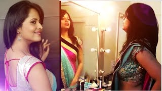 Anchor Anasuya at  makeup room | Anchor Anasuya Exclusive Video
