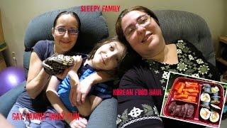 Korean Food Haul And Sleepy Family   Gay Family Daily Fun