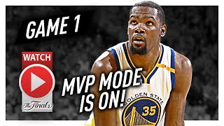 Kevin Durant Full Game 1 Highlights vs Cavaliers 2017 Finals - 38 Pts, 8 Reb, 8 Ast, MVP MODE!