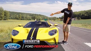 Ken Block Test Drives The Ford GT in France   Le Mans   Ford Performance