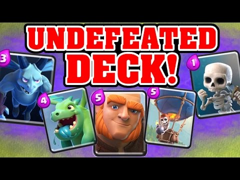Clash Royale UNDEFEATED DECK BEST DECK FOR LOWER ARENAS 1 5