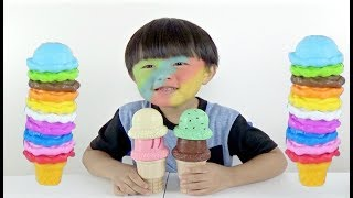 Play and Learn Colors with Ice Cream Cone Play Set