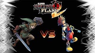 Super Smash Flash 2: Link VS Sora! |Ep.1|
