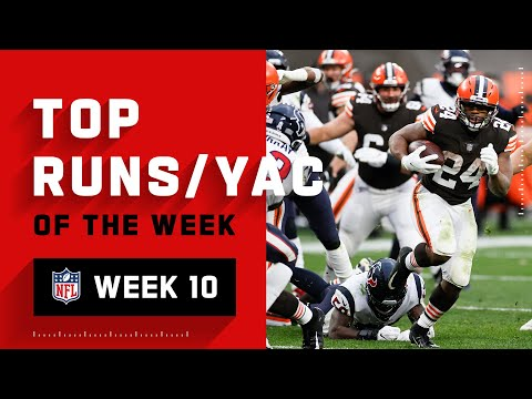 Top Runs & YAC from Week 10 NFL 2020 Highlights