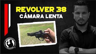 Revolver 38 cámara lenta